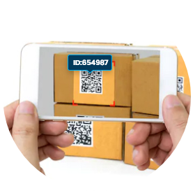 Scan qr code with DSCSA-approved RX multiscanner in the pharmaceutical industry