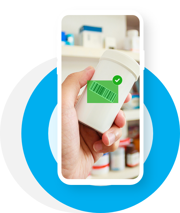 QR code scanner in drugstore for urgent care