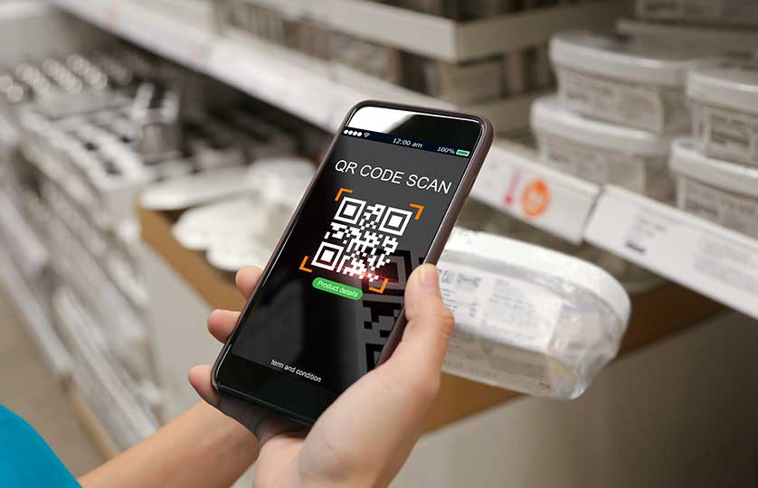 Scan QR code in RX-enabled pharmaceutical supply chain solutions for pharmacy software systems